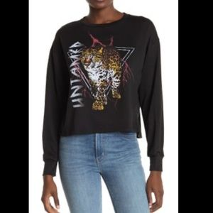 3/$40 Untamed Graphic Crop Sweatshirt